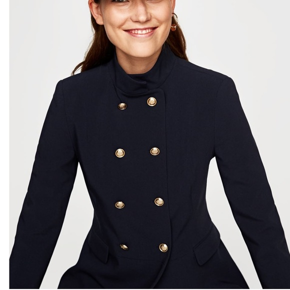 542c90e7 GORGEOUS NWT ZARA Double Breasted Military Jacket NWT